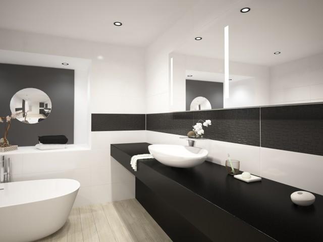 Modernes schwarz-/weißes Design